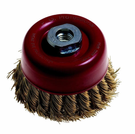 WIRE CUP BRUSH KNOTTED 100MM
