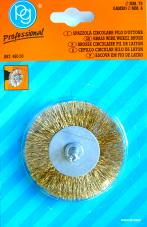 75MM BRASS WIRE WHEEL BRUSH