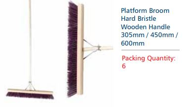 PLATFORM BROOM 450MM -  HARD - 6 Pack