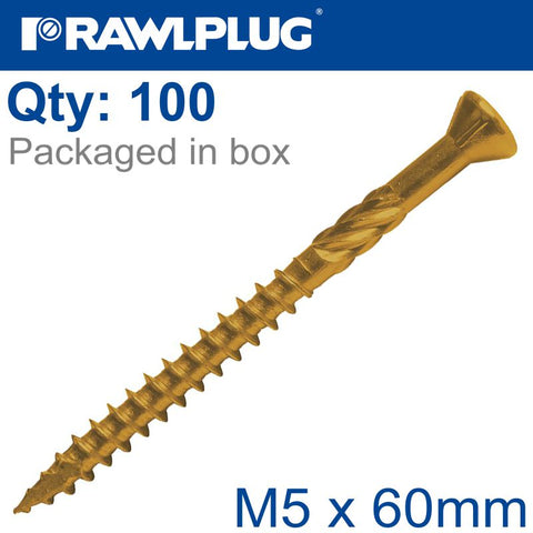 R-DSX SCREWS M5 X 60X36 GINGER RUSPERT X100-BOX