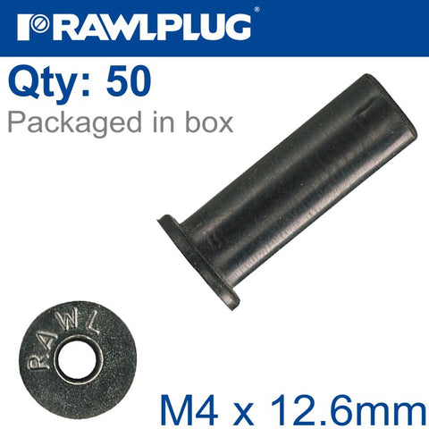 RAWLNUT M4X12.6MM X50-BOX