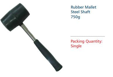 RUBBER MALLET STEEL SHAFT