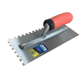 TILING TROWEL HEAVY DUTY 8MM RUBBER HANDLE - 12 Pack