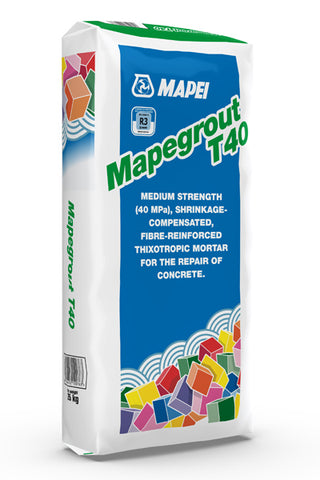 Mapegrout T40 (25kg): Fibre-reinforced  mortar for repairing concrete