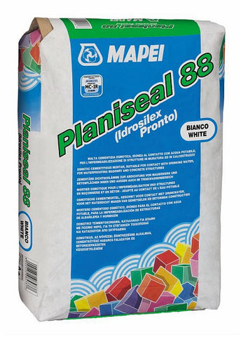 Planiseal 88 (25kg): Osmotic cementitious mortar suitable for contact with drinking water