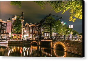 Predawn Stillness, Amsterdam - Canvas Print