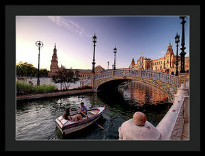 Rowing Amidst Splendor - Framed Print