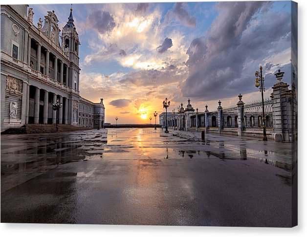 The Palace. After The Rain - Canvas Print