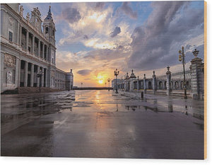 The Palace. After The Rain - Wood Print