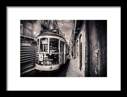 Tram City, Lisbon - Framed Print