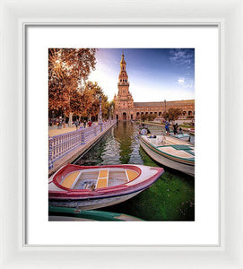 View Of The Moat - Framed Print