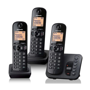 Panasonic KX-TGC223EB Trio Digital Cordless Phone with LCD Display & Answer Machine