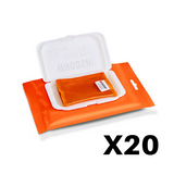 WHOOSH! 20x Screen Shine Disposable Anti-Microbes Wipes (20 Wipes + 1 Mini Cloth) - 1FG20WPENFR
