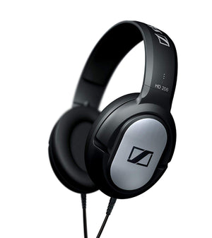 Sennheiser HD206 On-Ear Stereo Headphone - Black/Silver