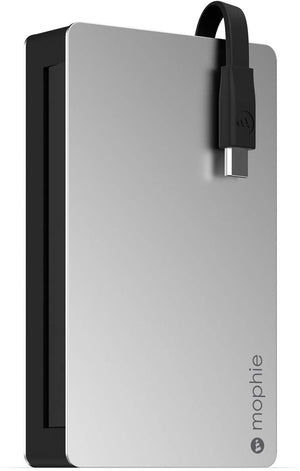 Mophie Powerstation Plus 3x with Micro USB connector (5,000mAh) - Silver/Black - 3282_PWRSTION-5CL-BLK-A