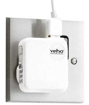 Veho Mains USB Charger for iPod/iPhone/iPad/USB Charged Devices - White - VAA-003-WHT