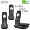 Gigaset AS405A Advanced Cordless Home Phone with Answer Machine and Call Block - Single, Duo & Trio