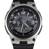 Casio Mens Quartz Watch with Digital & Analogue Display and Black Resin Strap - AW-80-1A2VES