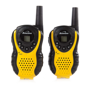 Binatone Latitude 100 Twin Pack Walkie Talkie - Black/Yellow - 625322910001