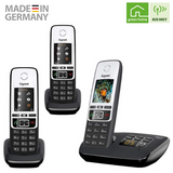 Gigaset C190A Premium Cordless Home Phone with Answer Machine and Call Block - Single, Duo & Trio