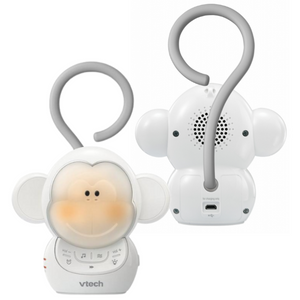 VTech Kids Safe & Sound Myla The Monkey Portable Soother w/Hook - White - ST1000