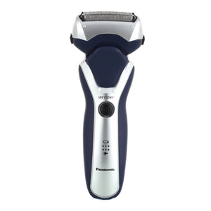 Panasonic Three Blade Electric Foil Shaver Wet and Dry - Blue/Silver - ESRT37
