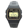 Casio Casual Digital Watch with Black Resin Strap - F-91WG-9QEF