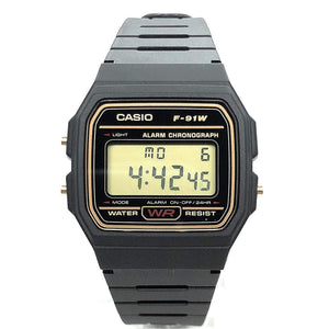 Casio F-91WG-9QEF Casual Digital Watch with Black Resin Strap
