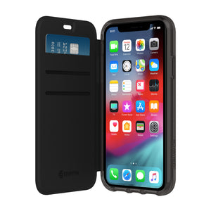 Griffin Survivor Clear Wallet Case for Apple iPhone XR - Black/Clear - GIP-016-BKC