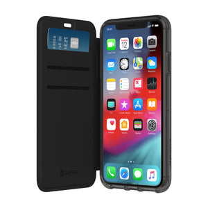 Griffin Survivor Clear Wallet Case for Apple iPhone X/XS - Black/Clear - GIP-017-BKC