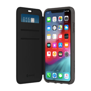 Griffin Survivor Clear Wallet Case for Apple iPhone XS Max - Black/Clear - GIP-018-BKC