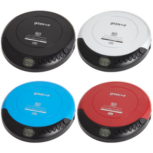 Groov-e Retro Series Personal CD Player with Earphones - 4 Colours - GVPS110