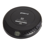 Groov-e Retro Series Personal CD Player with Earphones - Black, Blue, Red & Silver - GVPS110