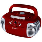 Groov-e Retro Boombox Portable CD & Cassette Player with Radio - GVPS813