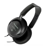 Panasonic Monitor Headphones with In-Line Volume Control – Black – RPHT225