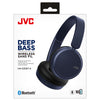 JVC Deep Bass Bluetooth On Ear Headphones - Blue - HAS35BTAU
