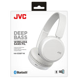 JVC Deep Bass Bluetooth On Ear Headphones - White - HAS35BTWU