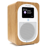 Pure Evoke H3 Portable FM/DAB+/DAB Digital Radio | Bluetooth, Dual Alarms and Full Colour Display - Oak
