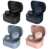 JVC HA-A10T True Wireless Bluetooth Earbuds with Charging Case | Up to 4 Hours Playback & 14 Hours Battery Life | IPX5 Waterproof - Black, Blue, Grey & Pink