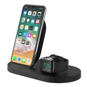 Belkin Boost Up 7.5W Qi Wireless Charging Pad Stand for Smartphones, Airpods & Tablets - F8J235myBLK