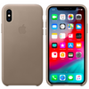 Apple Leather Case for Apple iPhone XS Max - Taupe - MRWR2ZM/A