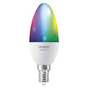 LEDVANCE Smart+WiFi LEDLamp Light Bulbs | Candle, RGBW + E14 Base - Multi-Colour (3-Pack) - LV485938