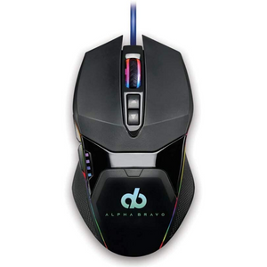 Alpha Bravo by Veho GZ-1 USB Wired Gaming Mouse | 1000Hz Ultra Polling/1ms Response Time - VAB-101-GZ1