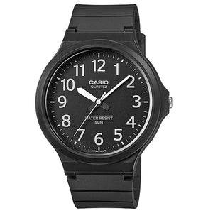 Casio Mens Analogue Watch with Resin Strap - Black - MW-240-1BVEF