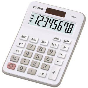 Casio MX-8 Calculator for Office, Desktop, Business & Students - White - MX8 / MX8B