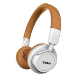 Veho ZB5 Monaco Bluetooth Wireless Headphones with Microphone | Foldable & Lightweight - White & Tan - VEP-023-ZB5-W