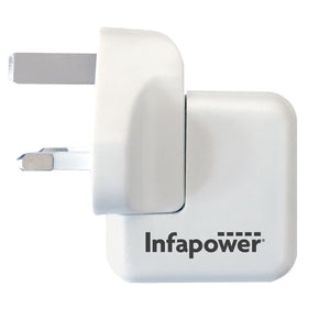 Infapower 5V 2.1A Fast USB Twin Mains Charger - White - P041