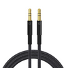 Urbanz 1m AUX Audio Cable with Gold Plated Connectors and Braided Cord - Black - INC-35P/P-1-BK