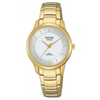Pulsar Ladies Solar Bracelet 50M Water Resistant Watch – Gold / White Dial – PY5042X1