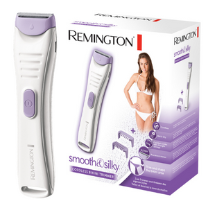 Remington Cordless Bikini Trimmer w/Cleaning Brush & Beauty Bag – White/Purple – BKT4000